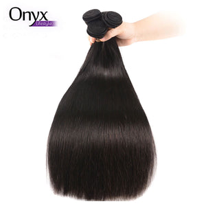 Malaysian Straight 4 Bundles w/4x4 Closure - Human Remy (Natural Color)