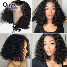 Load image into Gallery viewer, Brazilian Deep Wave Short Bob 13x4 Lace Front Wig Pre-Plucked w/ Baby Hairs