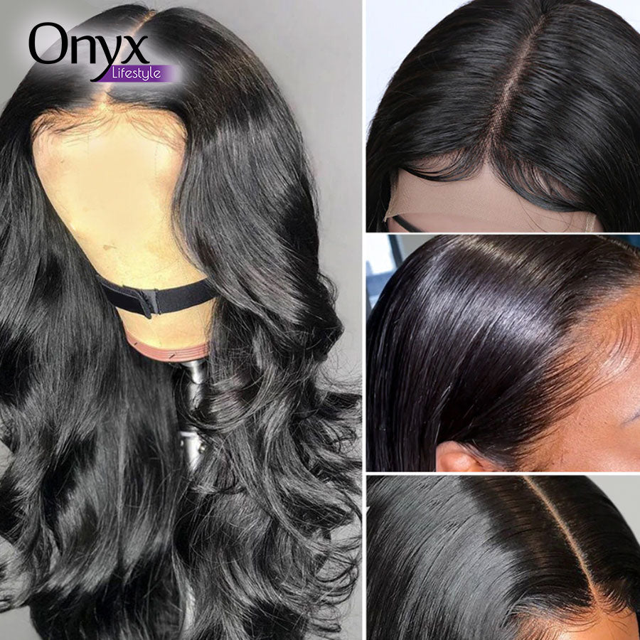 Brazilian Body Wave 4x4 Lace Front Wig - Human Remy Pre-Plucked w/Baby Hair (Natural Color)