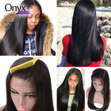 Load image into Gallery viewer, Brazilian Straight 13x4 Lace Front Wig - Human Remy (Natural Color)