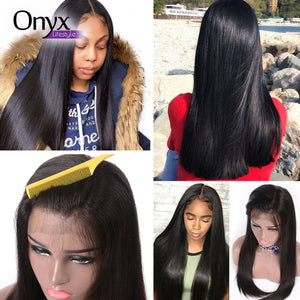 Brazilian Straight 13x4 Lace Front Wig - Human Remy (Natural Color)
