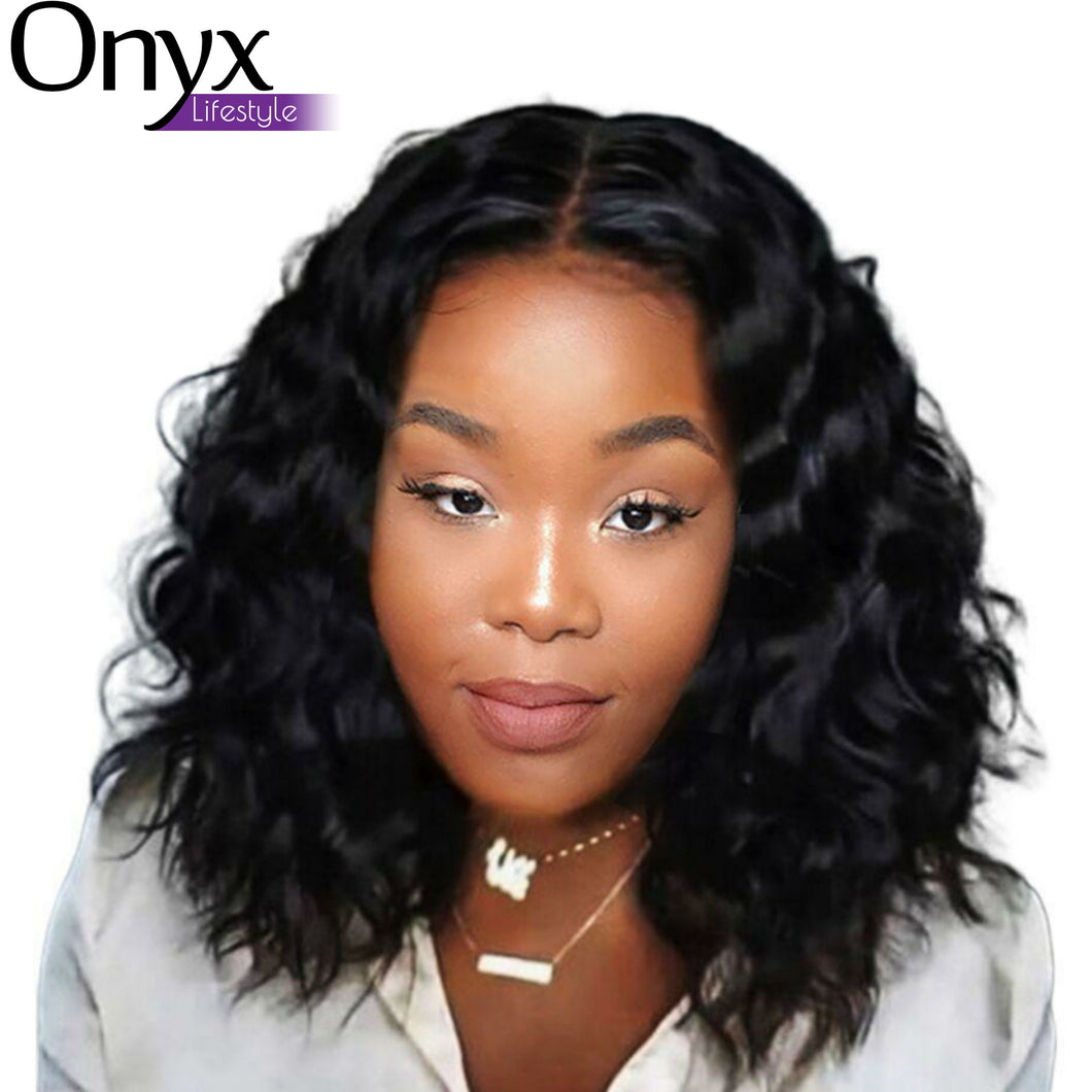 Brazilian Natural Wave 13x6 Lace Front Short Bob Wig - Human Remy