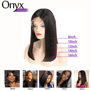 Indian Straight Bob 13x4 Lace Front Wig - Human Remy 150% Density