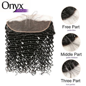 Brazilian Deep Wave 13x4 Frontal - Human Remy