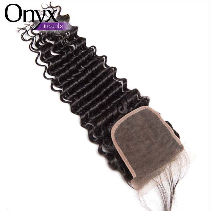 Brazilian Deep Wave 4x4 Closure - Hair Remy