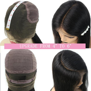 Brazilian Kinky Straight 360/370 Lace Front Wig - Human Remy Pre-Plucked w/Baby Hair (Natural Color)