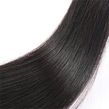 Load image into Gallery viewer, Brazilian Straight 3 Bundles and 13x4 Silk Base Frontal - Human Virgin (Natural Color)