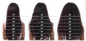 Brazilian Straight 3 Bundles w/4x4 Closure - Human (Non-Remy)