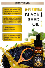 Load image into Gallery viewer, 100% Natural Black Seed Hair and Scalp Oil