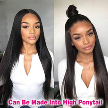 Load image into Gallery viewer, Brazilian Straight Lace Front Wig - Human Remy Pre-Plucked (Natural Color)