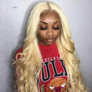 Brazilian Blonde* Body Wave Lace Front Wig - Human Remy Pre-Plucked (613)