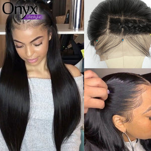 Transparent Brazilian Straight Lace Front Wig - Human Remy (Glueless)