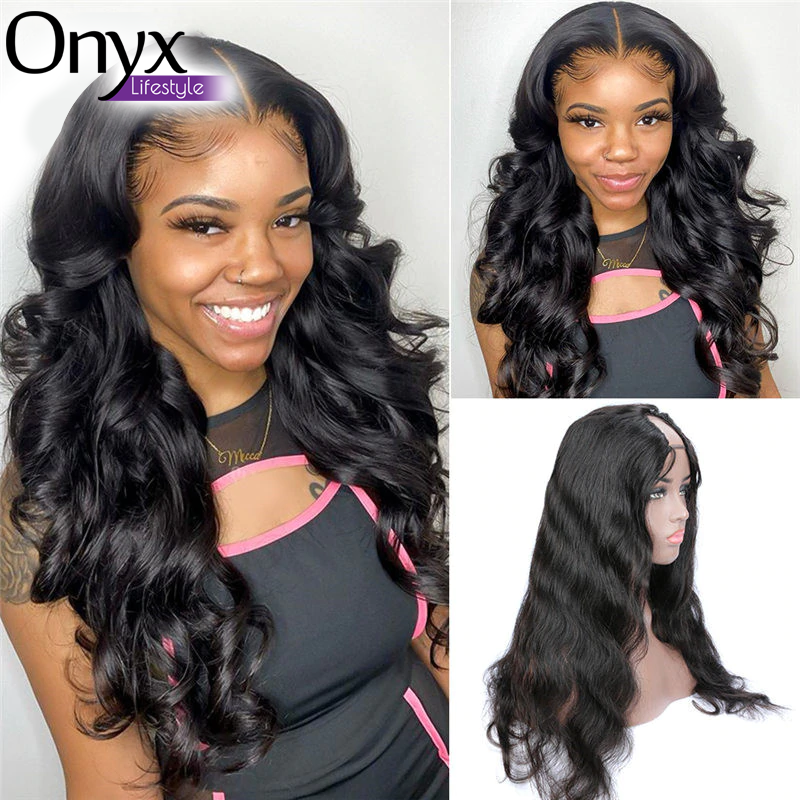 U Part Brazilian Body Wave Wig - Human Remy