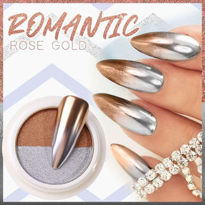Dual Color Mirror Chrome Nail Powder
