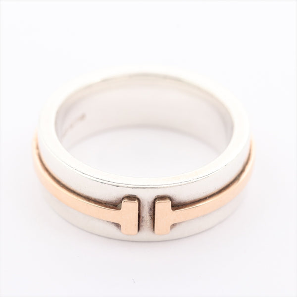 TIFFANY & Co. T TWO Ring 6.5 925x750 6.4g Silver|RANK:B