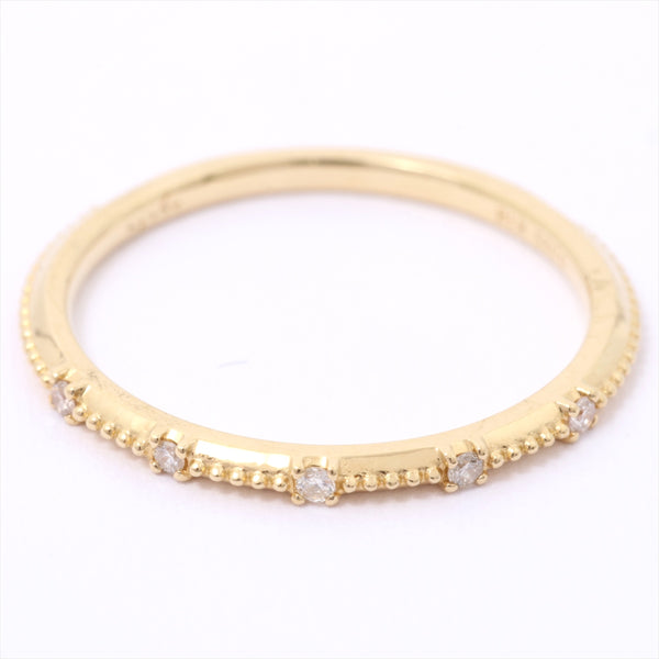 Agat agete diamond ring 18K Yellow Gold 0.025ct # 5