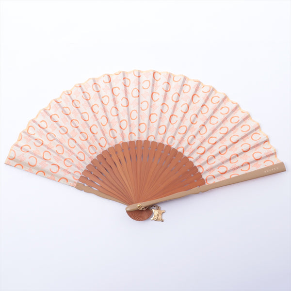 Celine C Macadam Folding Fan Cotton
