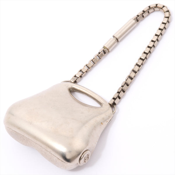 Chanel Charm Metal Material Silver Hip Bag