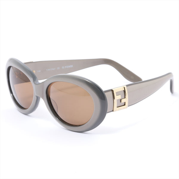 Fendi FS170 Sunglasses Plat Stick Brown Distorted