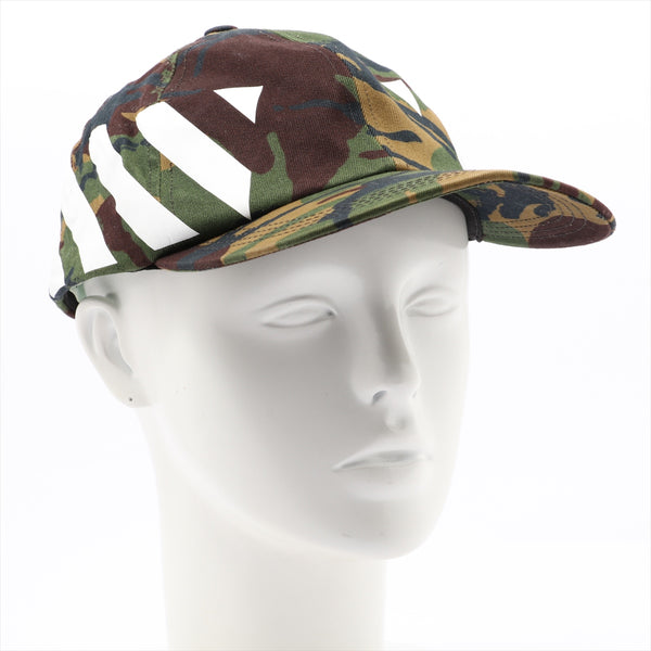 Off-white cap cotton camouflage