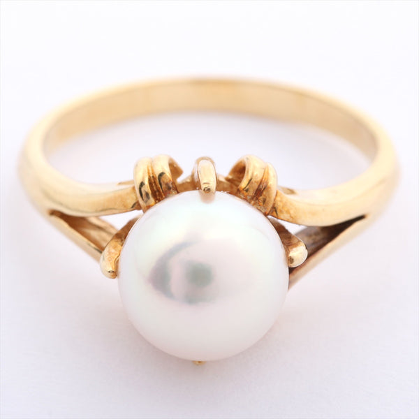 MIKIMOTO Pearl Ring 18K Yellow Gold # 9