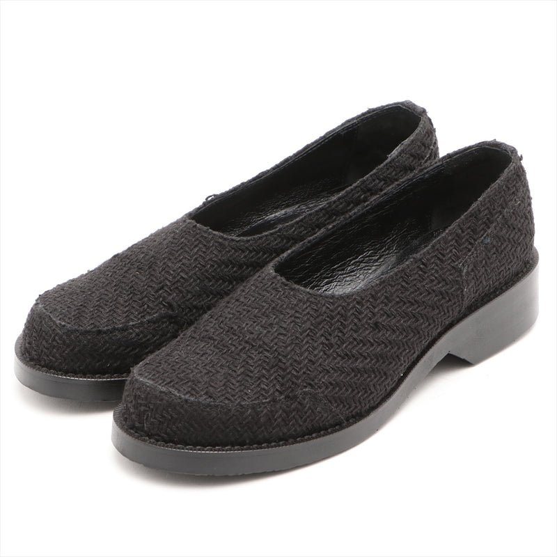 Y's Tweed x Leather Slip-on L Ladies Black