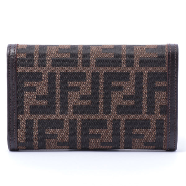 Fendi Zucca Canvas Wallet Brown