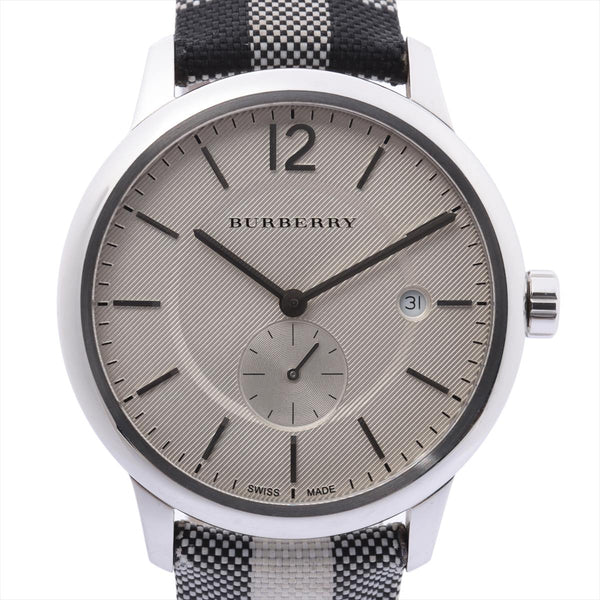 Burberry BU10002 Stainless Steelx Nylon QZ White Dial