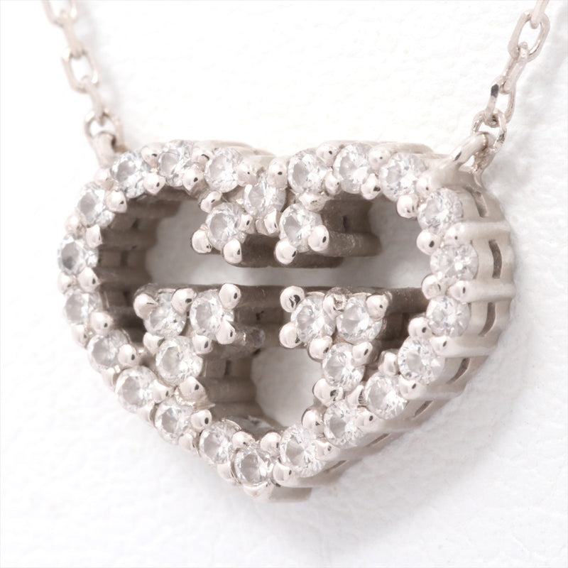 Gucci GUCCI Love Brit Diamond Necklace 750WG