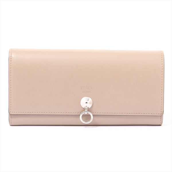 Fendi By The Way 8M0251 Leather Wallet Beige|RANK:B