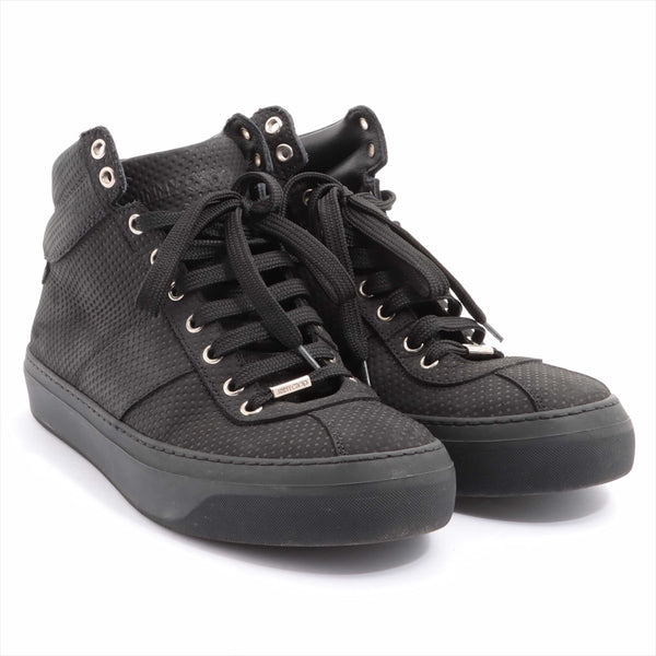 Jimmy Choo Leather High Top Sneakers 43 Men's Black Star Studs