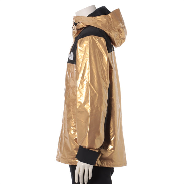 Supreme x North Face 18Stainless Steel Nylon Mountain Parka M Men's Gold METALLIC MOUNTAIN JACKET NP118011 Preserved odor