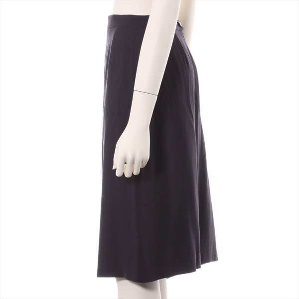 Chanel 97P Wool Skirt 44 Ladies Black
