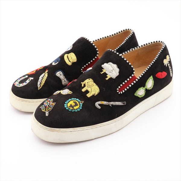 Christian Louboutin Suede Slip-On 36 Ladies Black