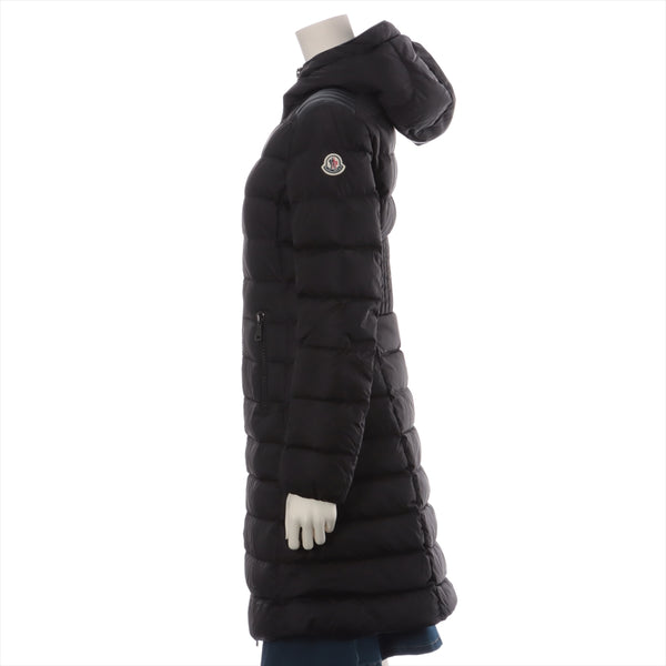 Moncler TALEV 19 Years Nylon x Leather Down Coat 0 Womens Black