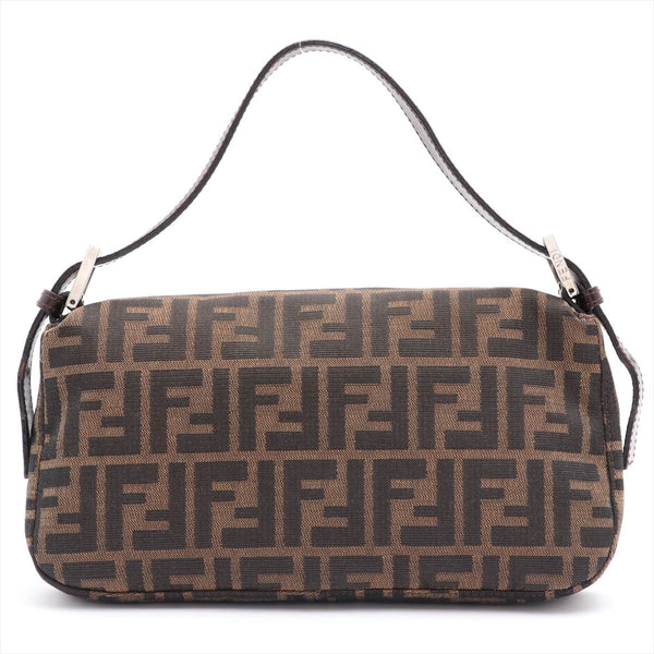 Fendi Mamma Bucket Zucca Canvas Shoulder Bag Brown