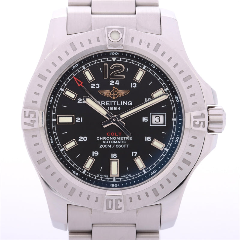 Breitling Colt A17388 Stainless Steel AT Black Dial Links3