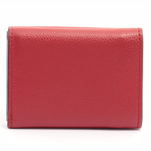 Fendi F Is Fendi Leather Wallet Red