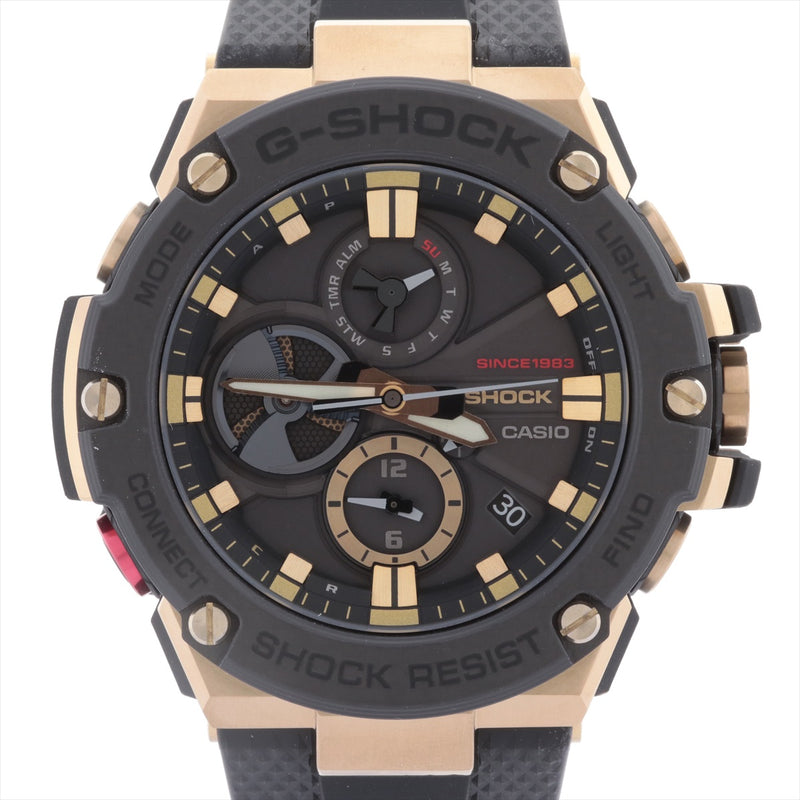 Casio G-Shock 35th Anniversary Model GOLD TORNADO GST-B100TFB-1AJR Stainless Steelx Rubber Solar Powered Black Dial