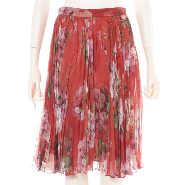 Gucci Silk Skirt 42 Ladies Red
