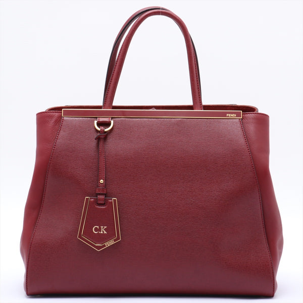Fendi Tujour Leather 2WAY Handbag Red 8BH250|RANK:B