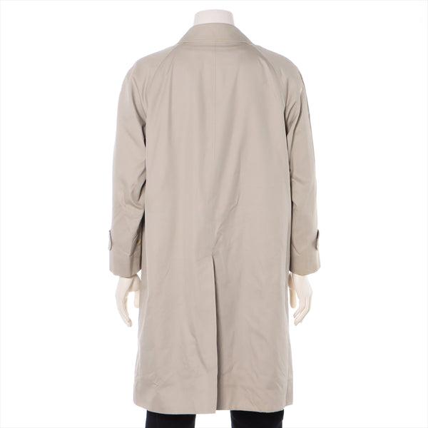 Burberry Cotton x Polyester Bal collar coat Men's beige With liner Named button shortage