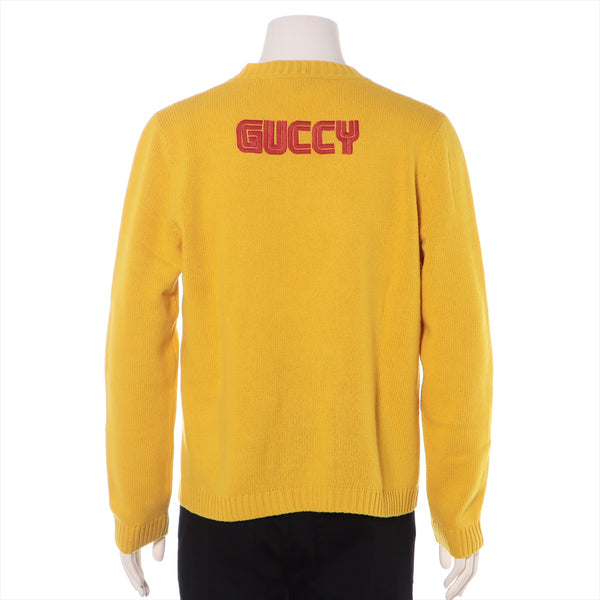 Gucci 18SS Wool Knit M Men's Yellow Bugs Bunny
