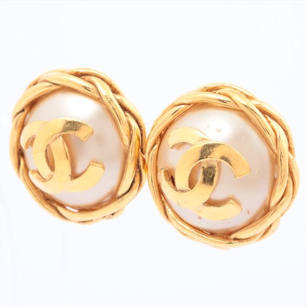 Chanel COCO Mark Earring (Binaural) Gold Plated 95P