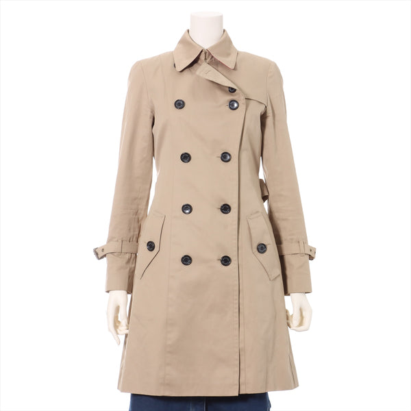Blue Label Crest Bridge Cotton Trench Coat 36 Ladies Beige With Liner