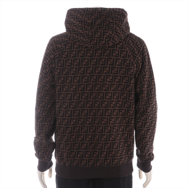 Fendi Zucca 19 Years Cotton Hoodie L Men's Brown|RANK:AB
