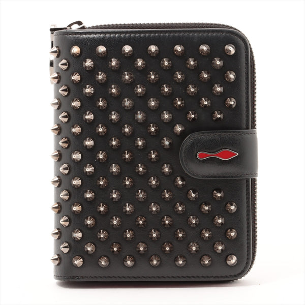 Christian Louboutin Panettone Rockstud Spike Leather Wallet Black