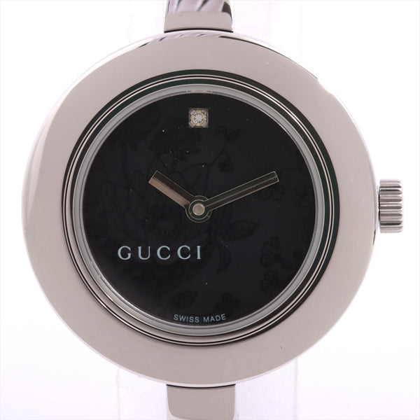 Gucci Bangle Watch Stainless Steel QZ Flora Dial Inner Box Only