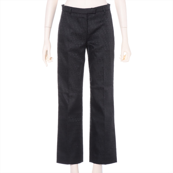 Fendi Zucca Cotton x Polyester Pants 38 Women's Black|RANK:AB
