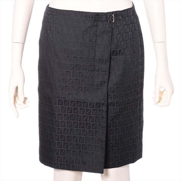 Fendi Zucca Other Skirt 44 Ladies Black No Quality Tag|RANK:BC